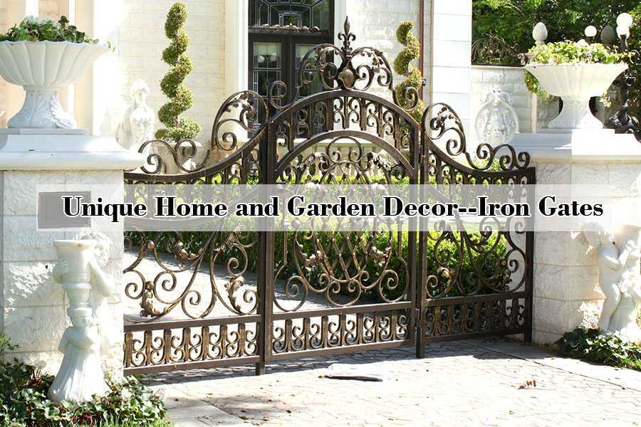 Modern Metal Art Double Driveway Front Entry Wrought Iron