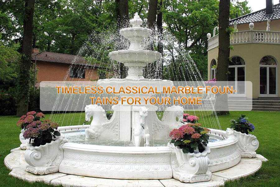 Hot Selling Hand Carved Two Tiered Life Size Pure White Marble Fountain For  Garden Decor For Saleu2013MOKK 07