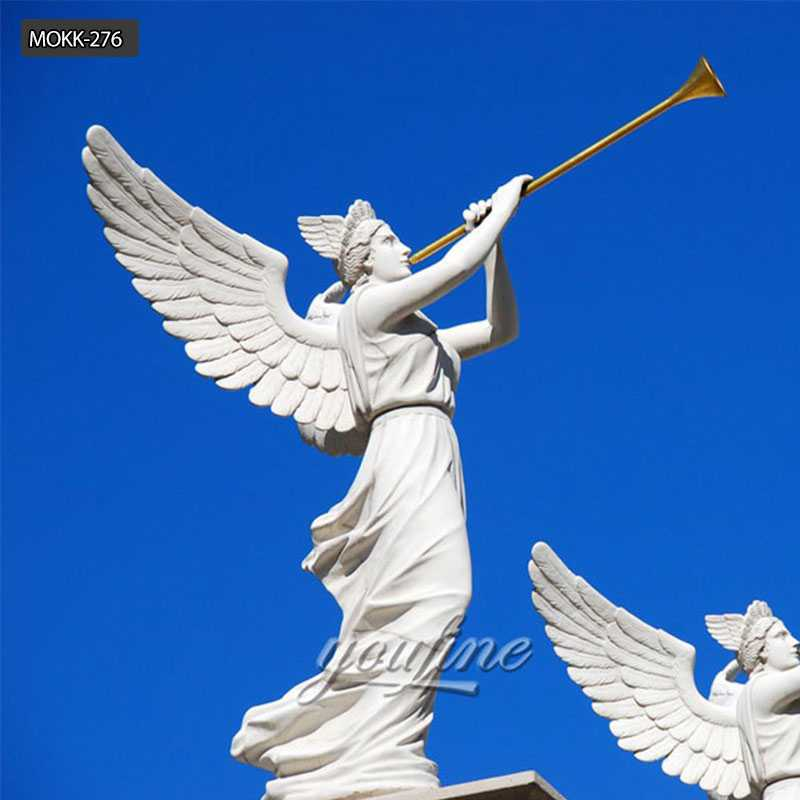 Famous Hand Carving Caesars Palace Angel Marble  Statue for Sale MOKK-276