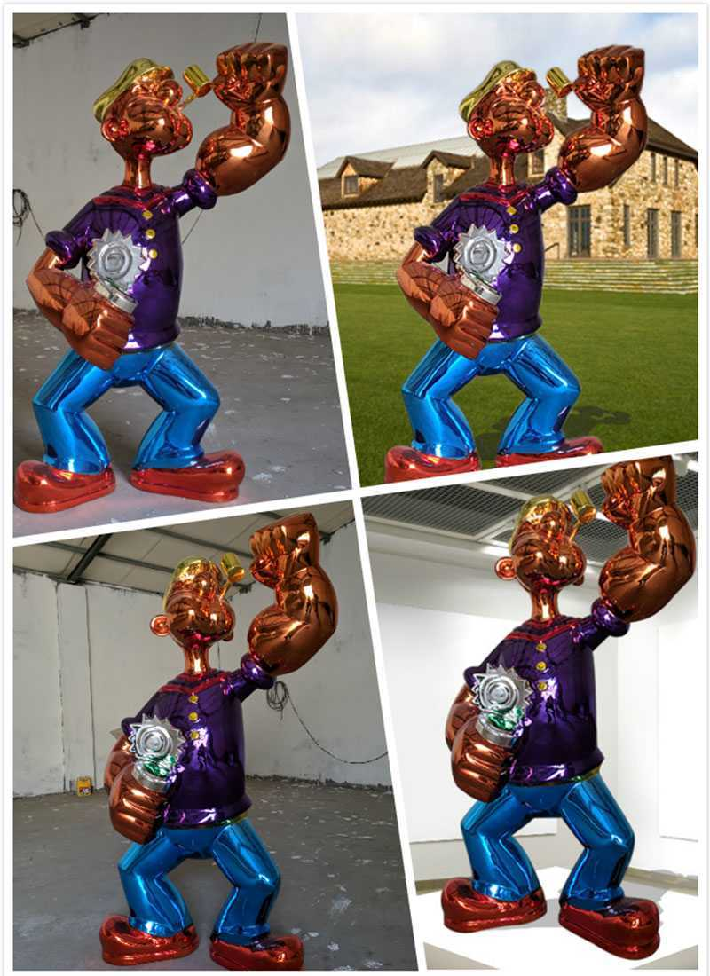 Fiberglass Jeff Koons Popeye Statue Replica for Sale
