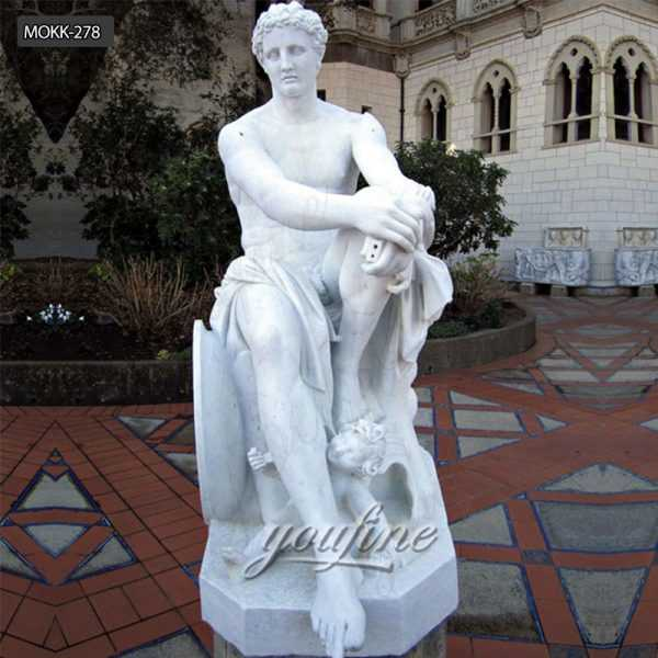 Pure Natural Marble Hand Carved Roman Marble Sculpture of Mars MOKK-278