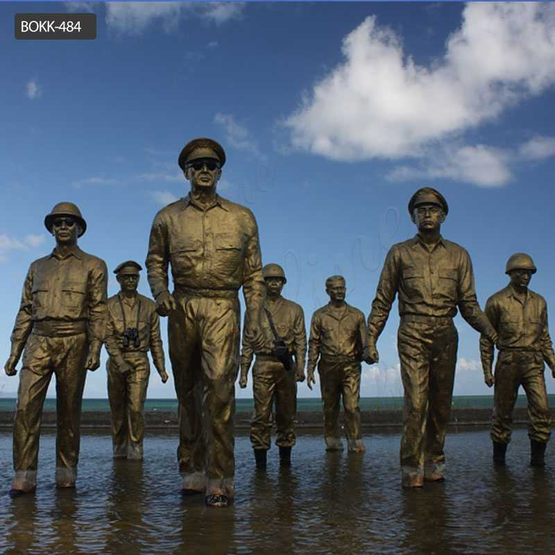 Leyte Landing Bronze Memorial Statue for Sale BOKK-484