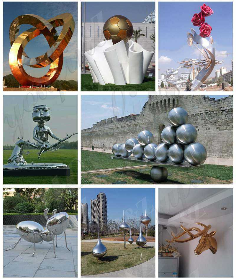 Modern Outdoor Metal Sculptures