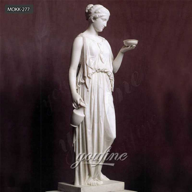 Female Life Size Marble Hand Carved Sculpture of the Goddess Hebe MOKK-277