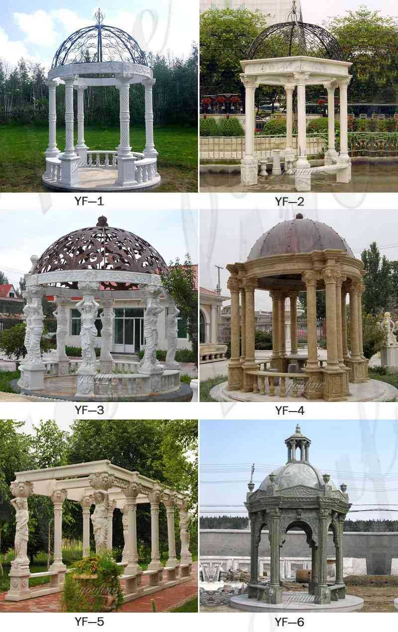 gorgeous hand carved white stone marble gazebo