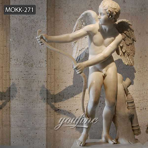 Hand Carved Pure White Marble Figure Statue of Eros Greek God of Love MOKK-271