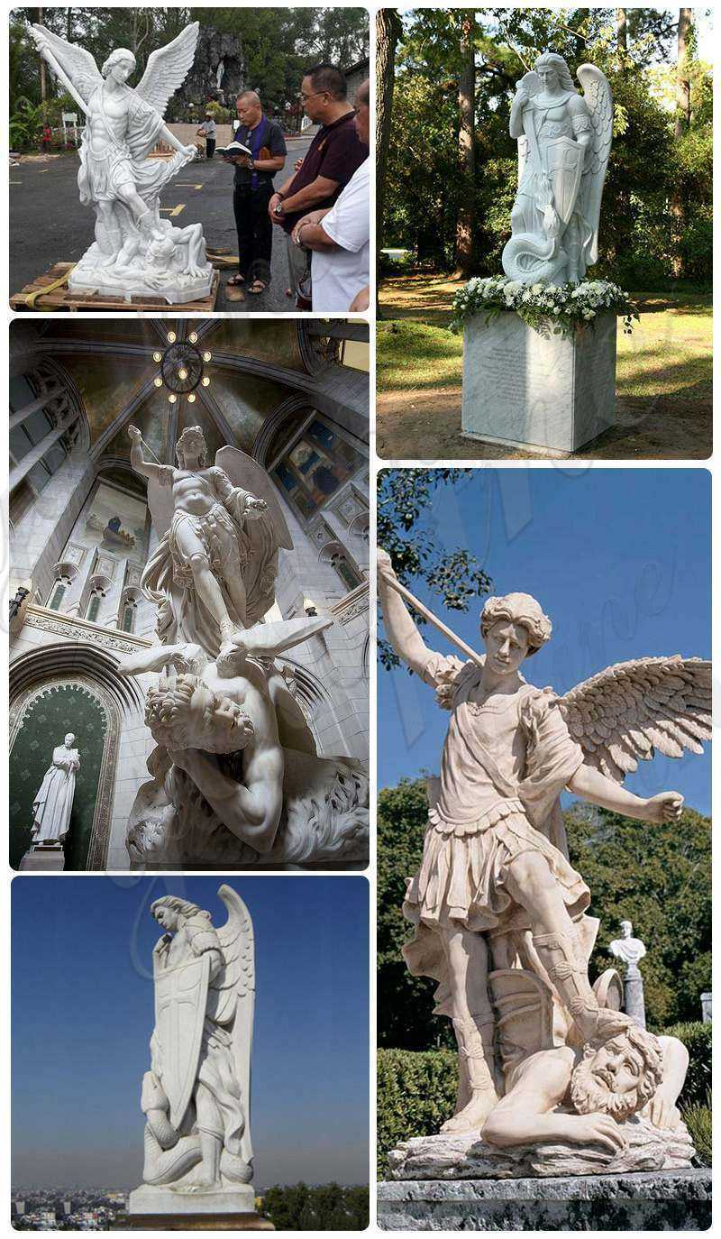 st michael the archangel outdoor statue on sale