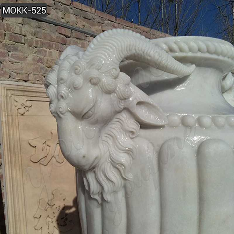 white marble planter for sales
