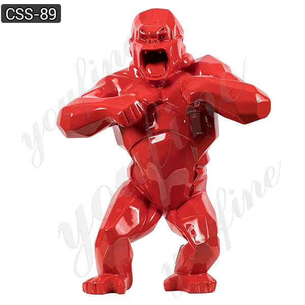 Famous Movie Characters Red King Kong Statue Outdoor Stainless Sculpture CSS-89