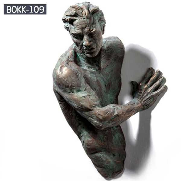 Famous Bronze Cast Wall Matteo Pugliese Indoor Decor Sculpture for Sale BOKK-109