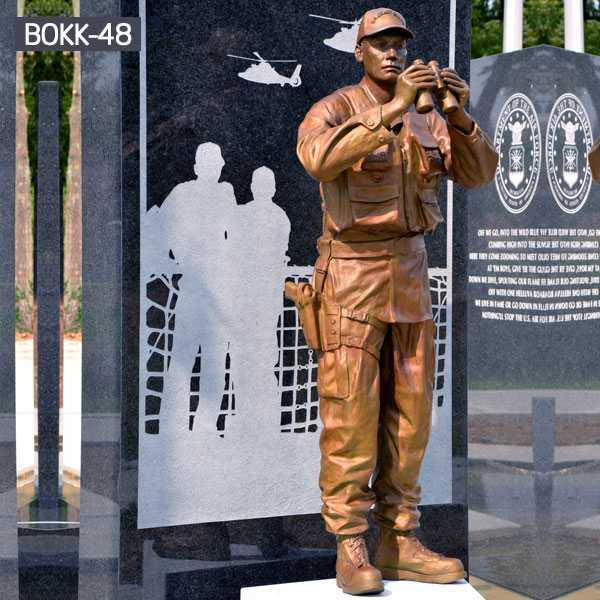 Custom Made Bronze Solider with Telescope Sculpture Military Monument Statue BOKK-48