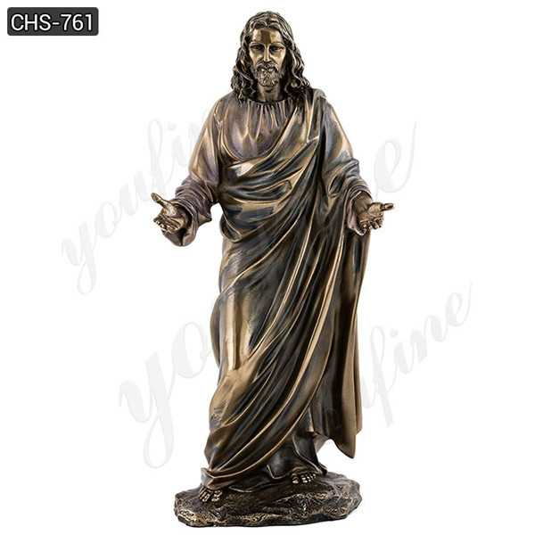 Famous Life Size Christ Sculpture Sacred Heart Of Jesus Bronze Statue with Hands Open for Sale–CHS-761