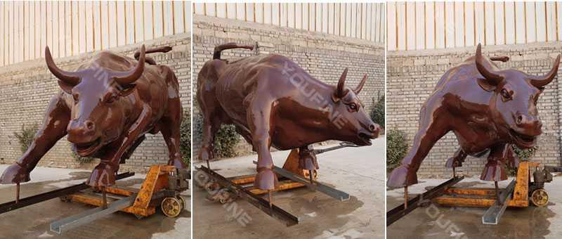 Large Antique Bronze Bull Sculpture for sale