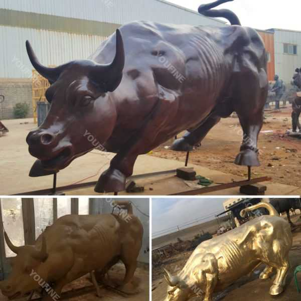 Large Antique Bronze Bull Sculpture on sale