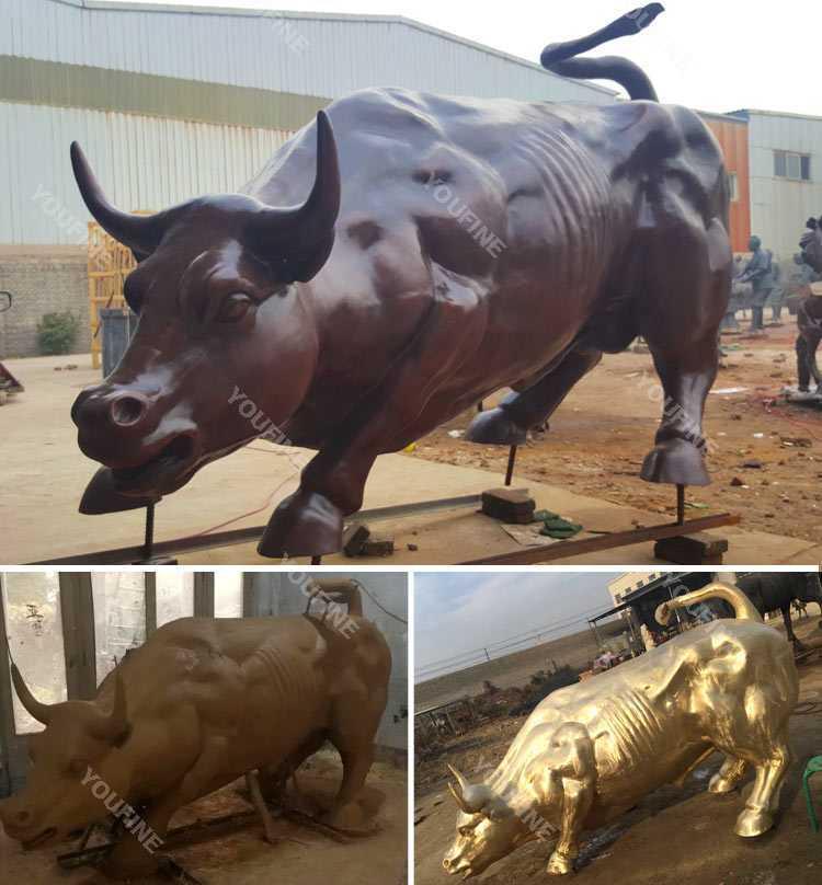 Large Antique Bronze Bull Sculpture on sale