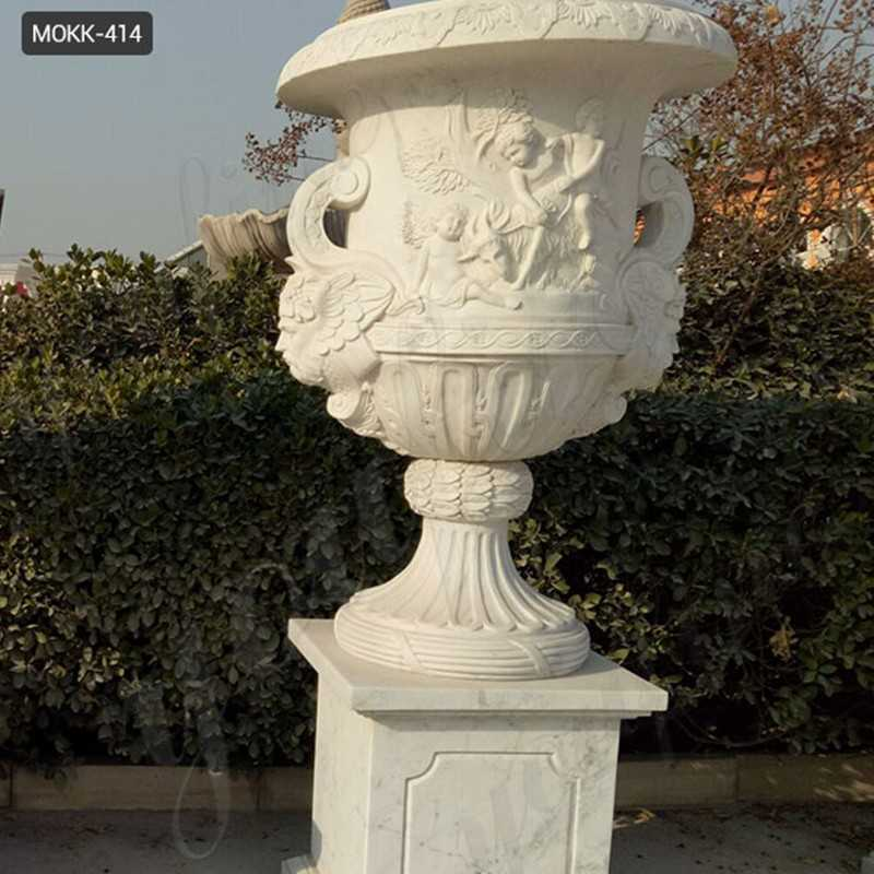 Large Marble Planters for sale