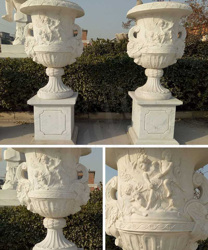 Large Marble Planters