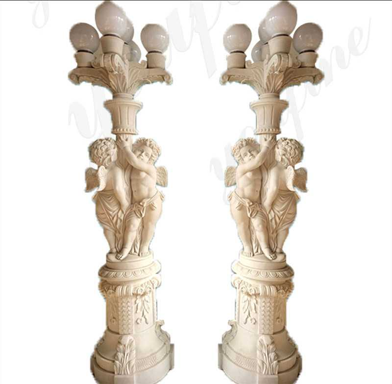 Marble Angels Statue Lamps for sale