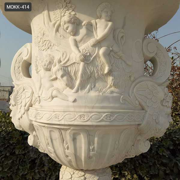 White Marble Planter for sale