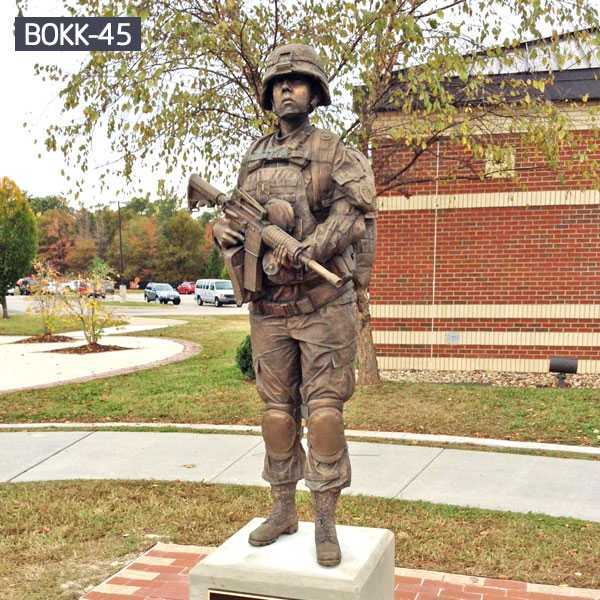 custom made bronze solider statue replica for memorial BOKK-45