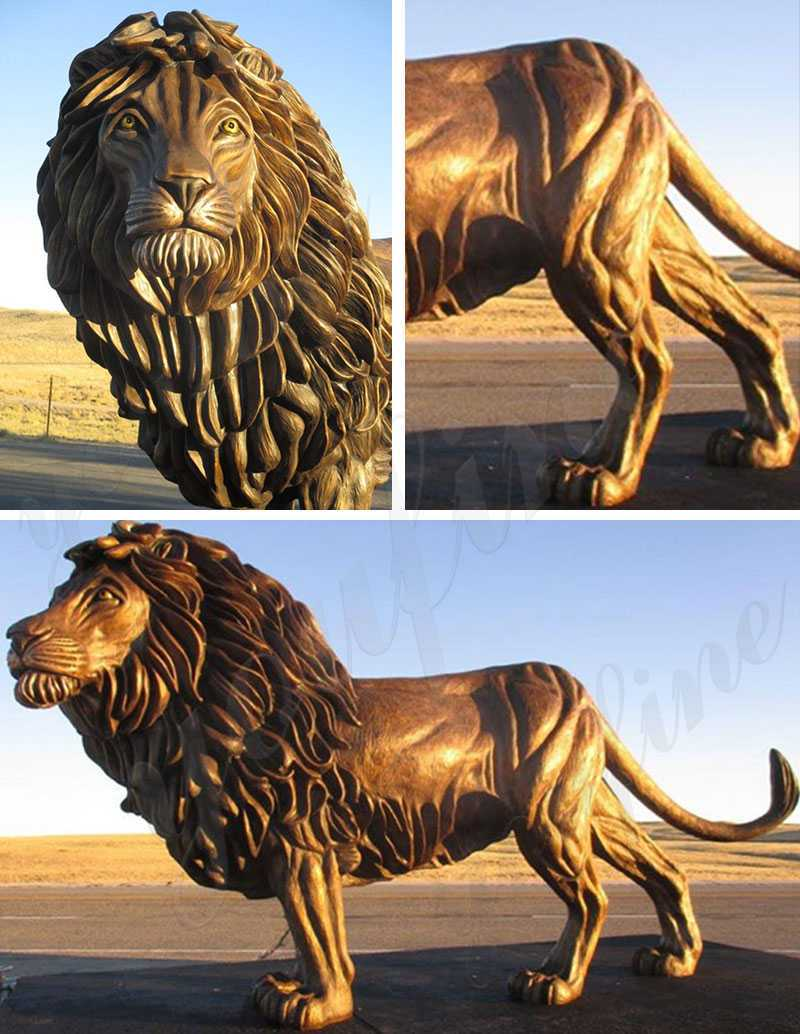 large bronze lion statue