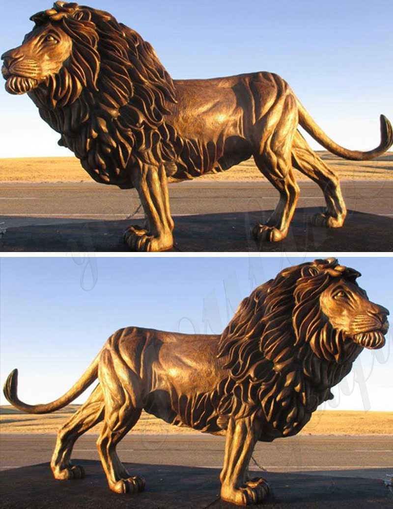 large bronze lion statue for sale