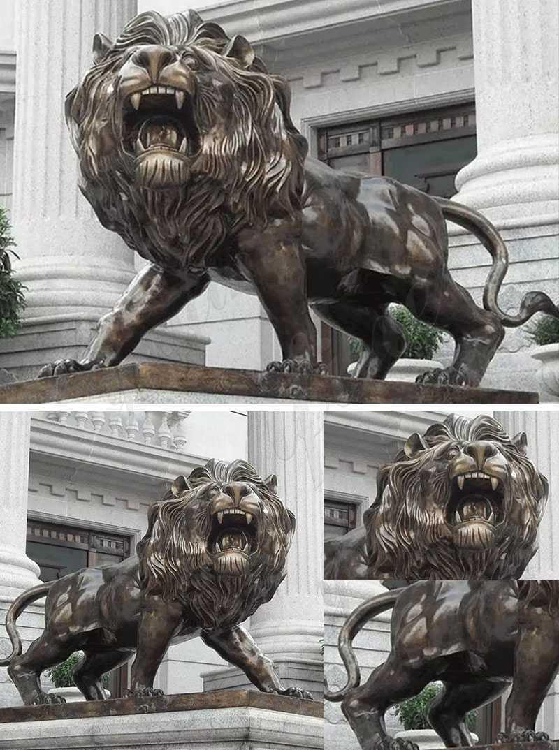 large bronze lion statue sculpture