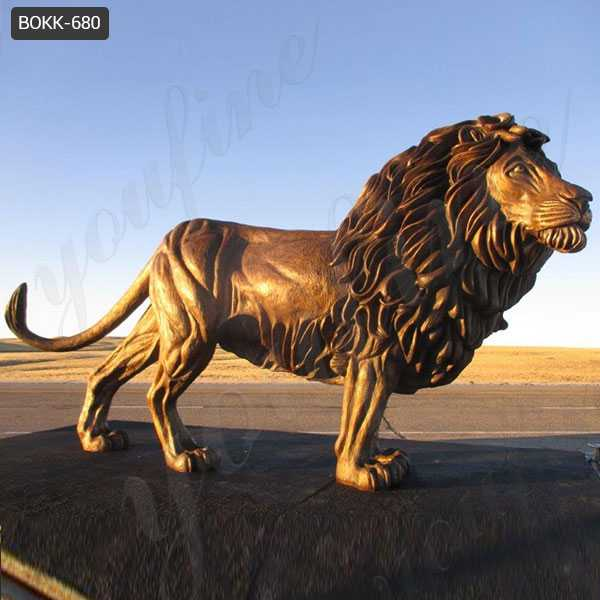 life size bronze lion statue for sale