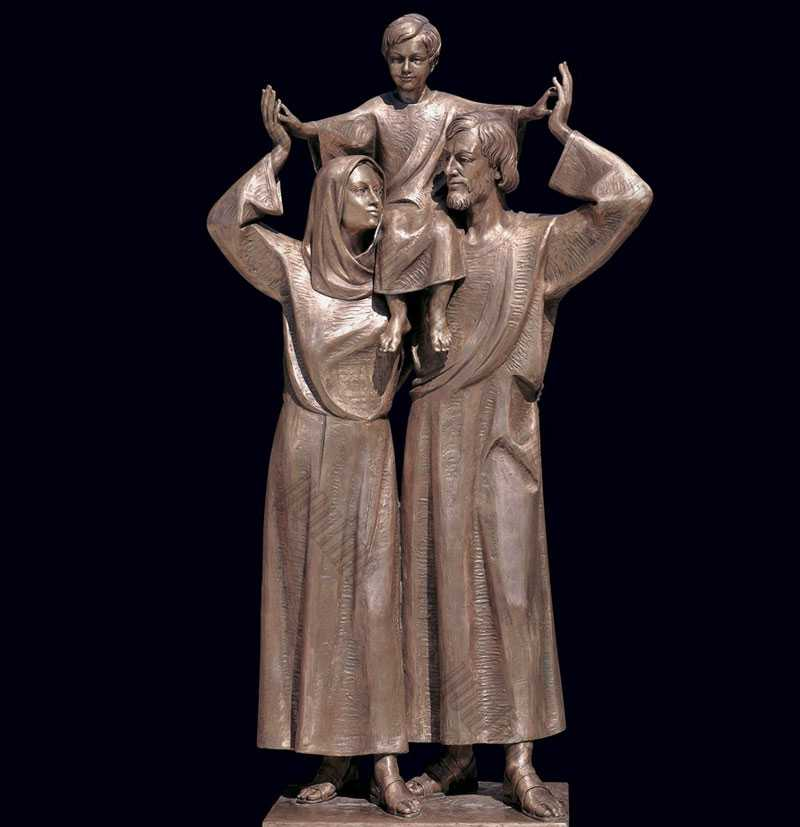 mary joseph and baby jesus bronze statue for sale