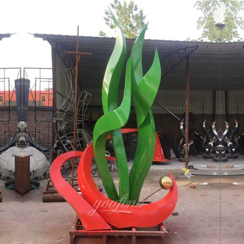 outdoor large stainless steel sculptures