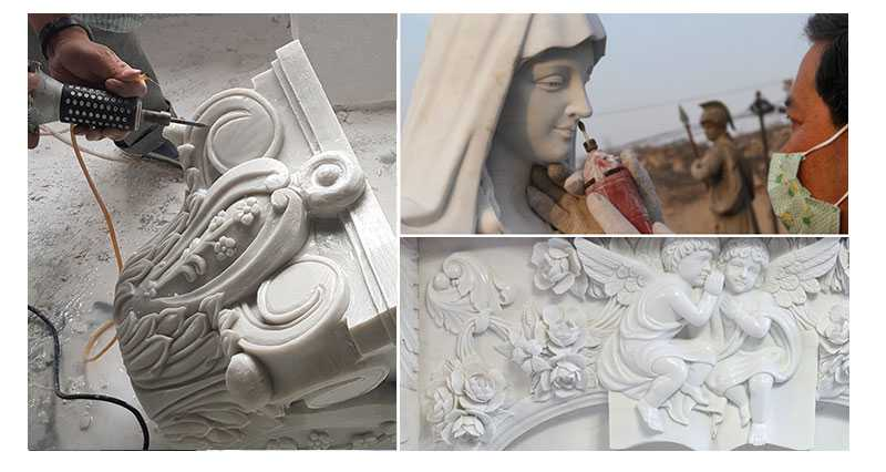 process of Saint Michael the Archangel Statue