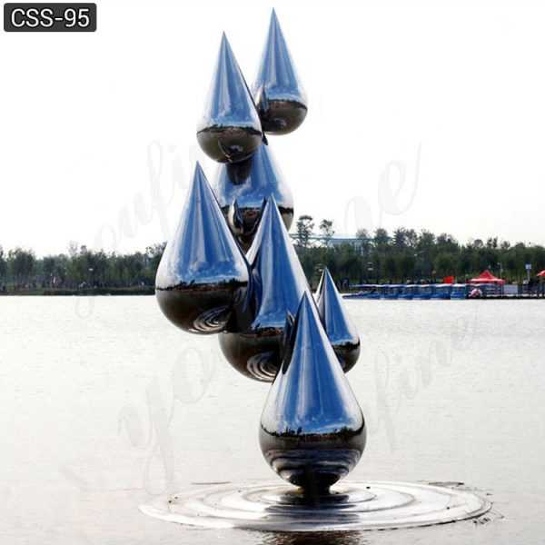 water droplets stainless steel sculptures