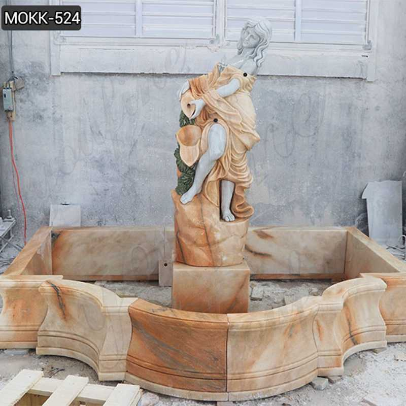 800 Outdoor Carving Female Statue Water Fountains