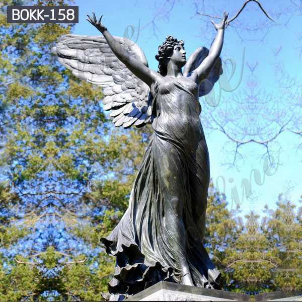 High Quality Life Size Casting Bronze Standing Angel Statue for Sale BOKK-158