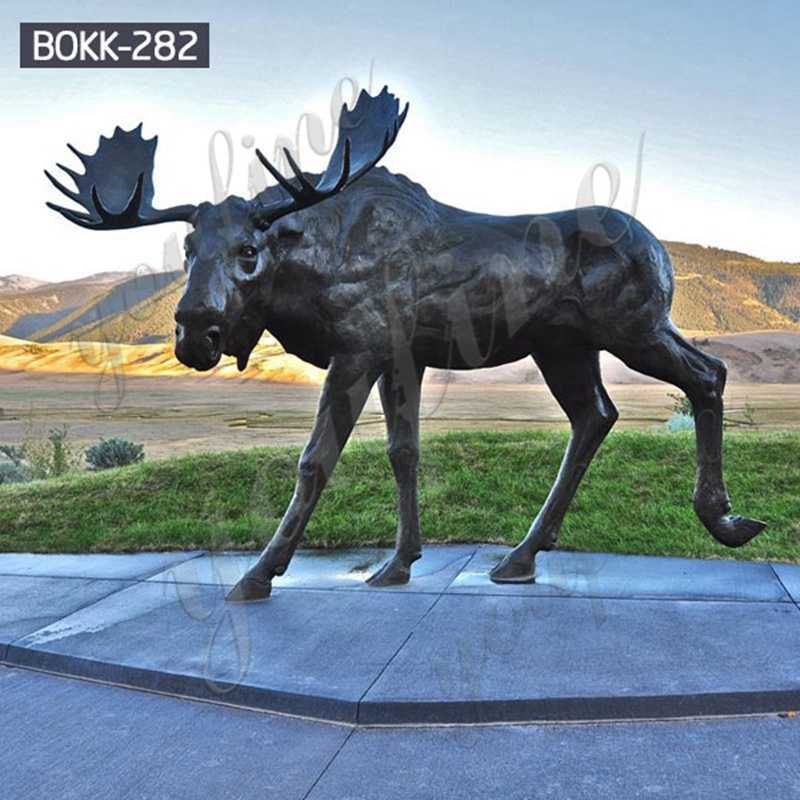 BOKK-282 Life Size Bronze Moose Statues for sale