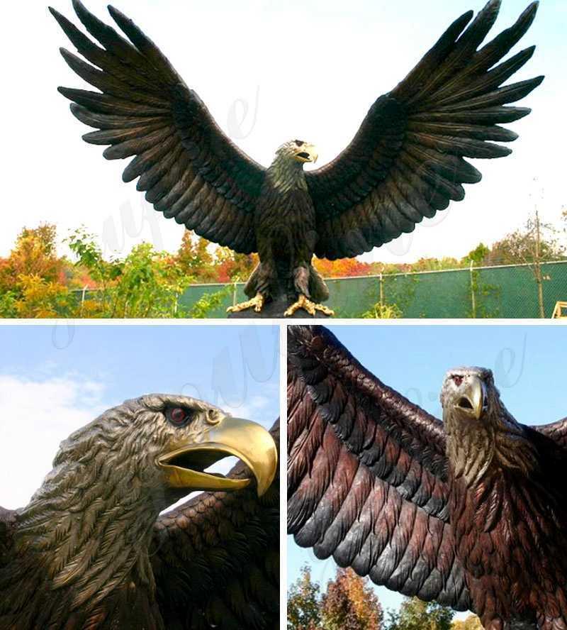 Beautiful Bronze Eagle in Flight Statue for dale