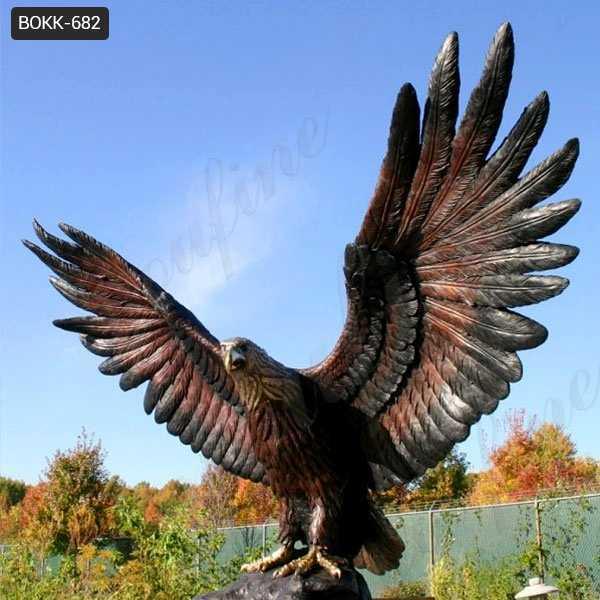 Beautiful Bronze Eagle in Flight Statues