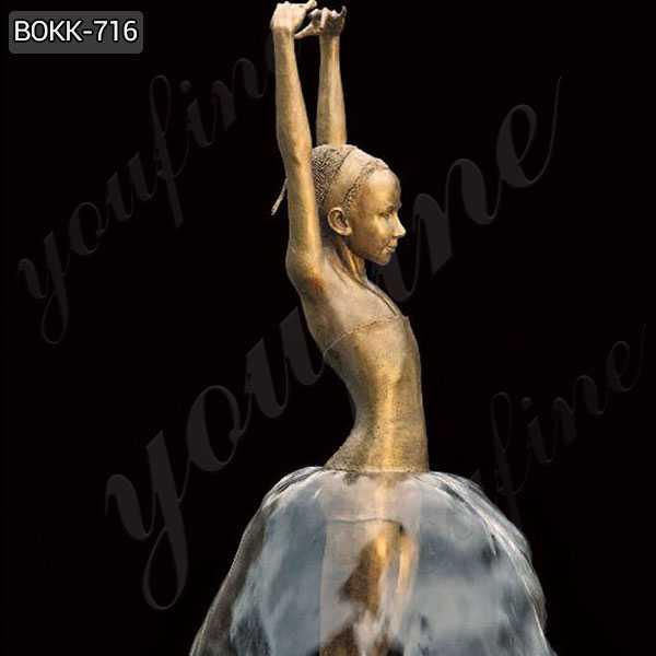 Bronze Ballerina Water Fountain on sales