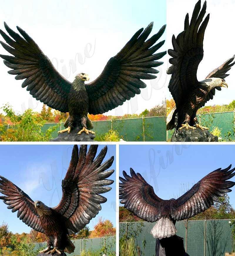 Bronze Eagle in Flight Statue for sale