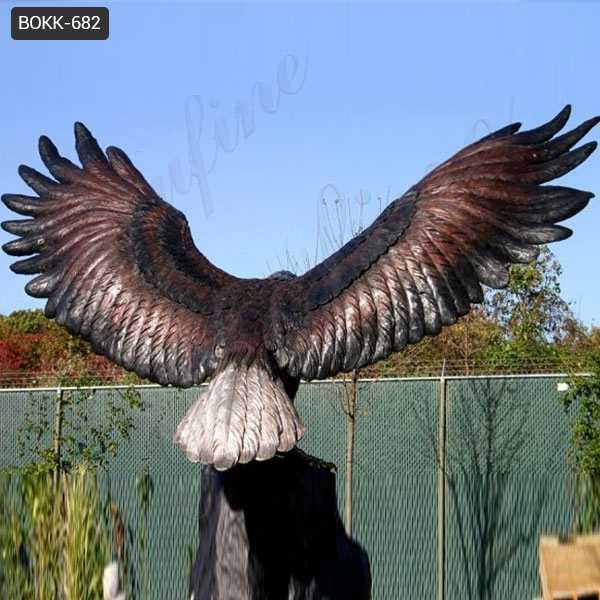 Bronze Eagle in Flight Statues