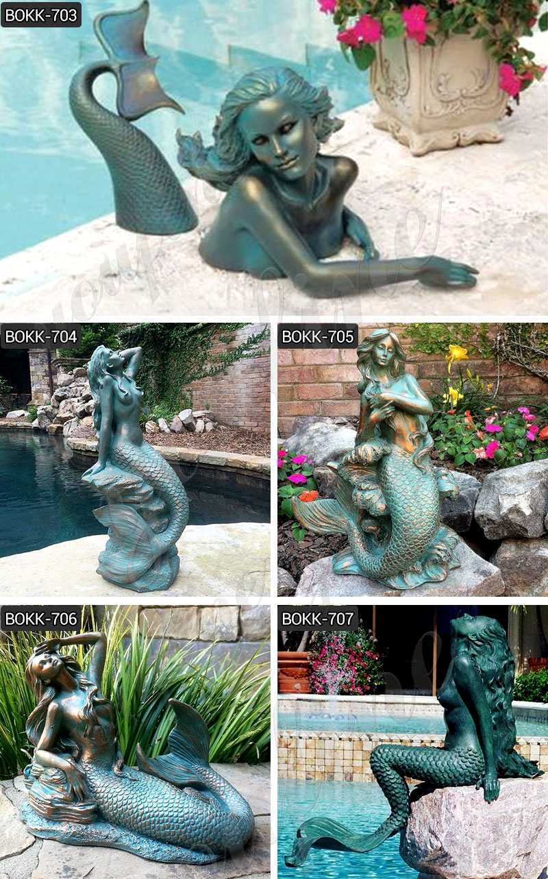 Bronze Meara the Mermaid Sculpture for sale