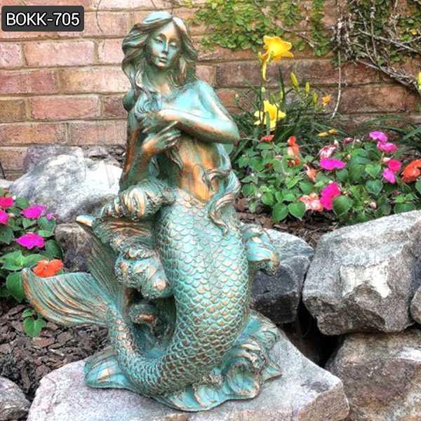 Bronze Patina Sexy Mermaid Statue