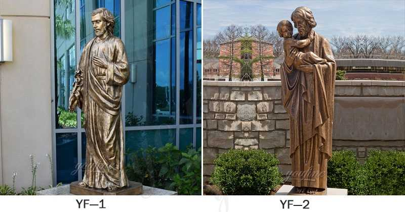 Bronze Saint Joseph Outdoor Statues for sale