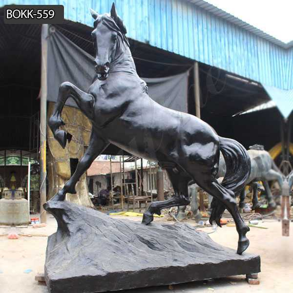 Outdoor Antique Bronze Running Horse Statue Garden Sculpture Decoration BOKK-559