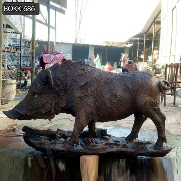 Bronze Wild Boar Statues on sale