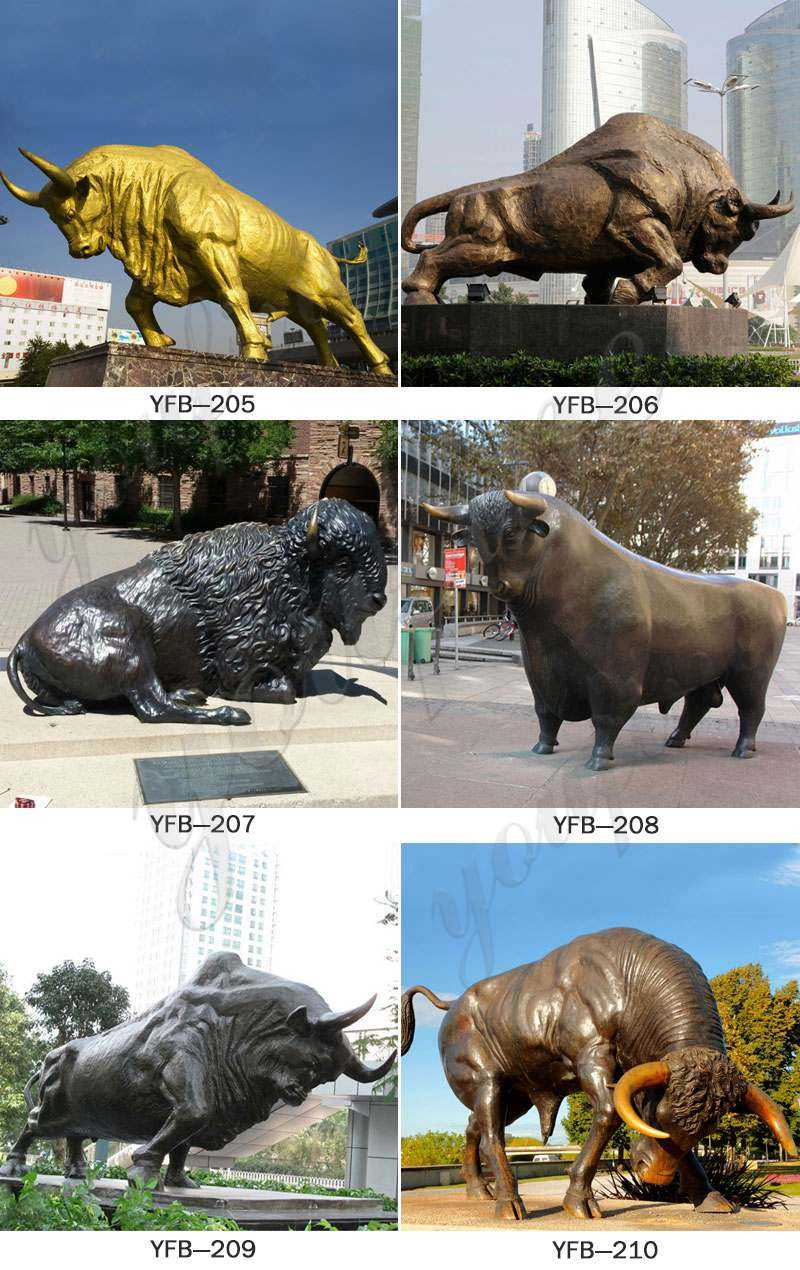 Bull Bronze Statue Outdoor Decoration for Sale