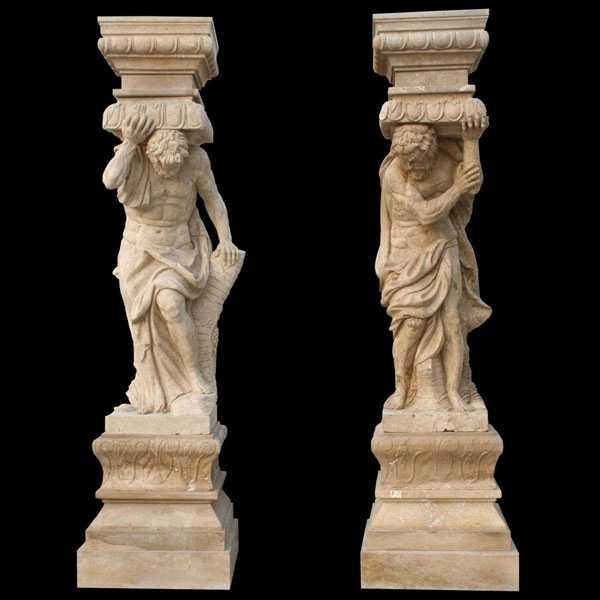 Carved Figure Porch Column Home Depot