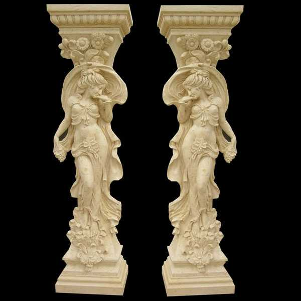 Carved Figure Porch Columns Home Depot for sale