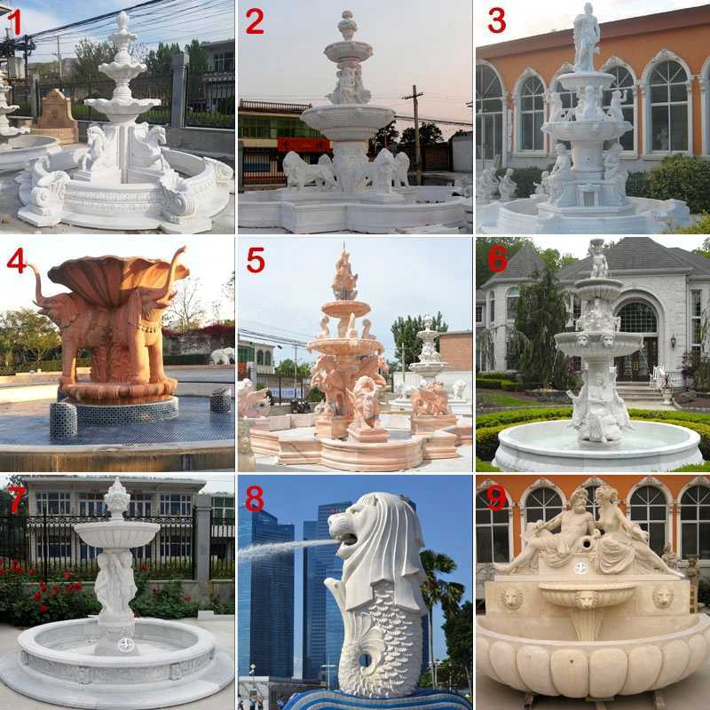 Carving Female Statue Water Fountains Natural Stone Fountain