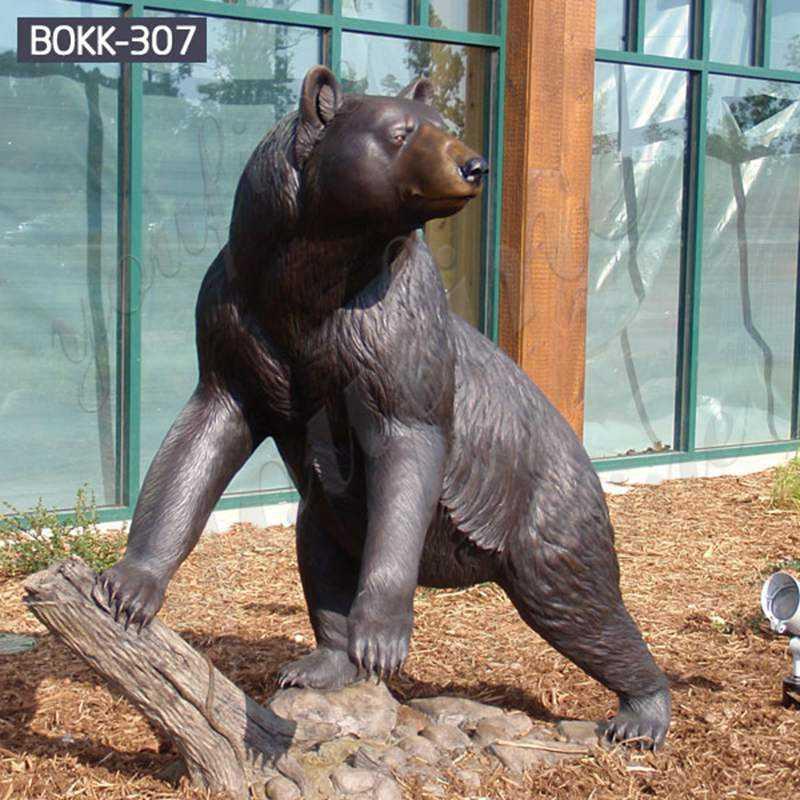 Cast Animal Bronze Wild Bear Statue Garden Decoration for Sale